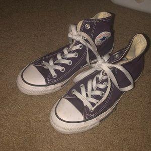 Purple high top converse